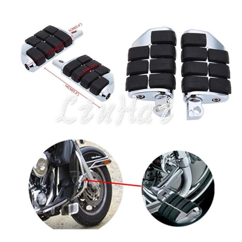 1Pair Aluminum Antivibration Front Foot Rest FootPeg Fit For Harley Davidson Sportster 883 Harley-Davidson Sportster