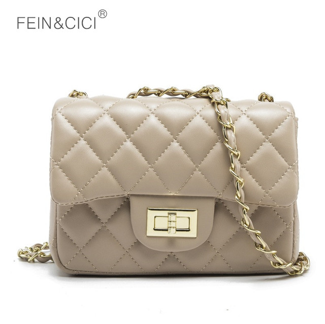 6e3de4a3ed0c Mini chains bag small quilted flap messenger bag women classic luxury brand  bags 2018 beige gold white pink red blue black white