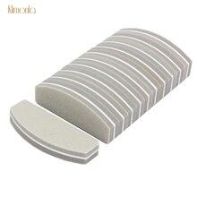 20pcs 100/180 Nail File Set For UV Gel Sanding Polishing Buffers Mini Sponge Trimming Tool Files Manicure Salon Tips