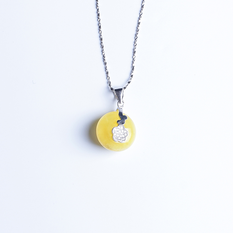 100%amber pendant genuine fashion female 925 sterling silver mosaic distribution water droplets clavicle necklace factory direc недорго, оригинальная цена
