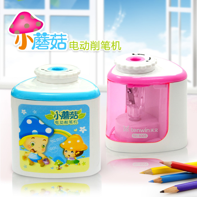 Electric Pencil Sharpener Stationary Sharpeners for Kids Automatic Mechanical Cute Kawaii Stationery School and Office Supplies