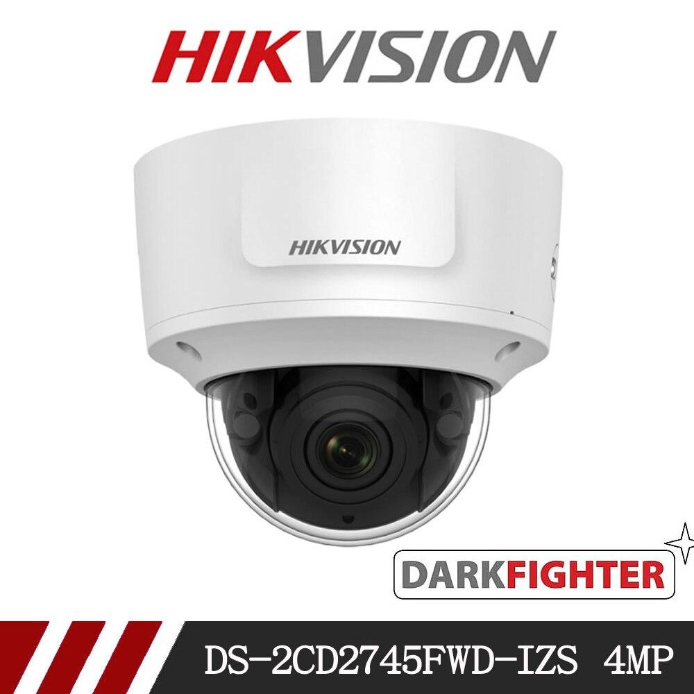 hikvision CCTV IP Camera Anti-Vandal VARIFOCAL IR Dome 4MP EASYIP 3.0 network surveillance camera DS-2CD2745FWD-IZS