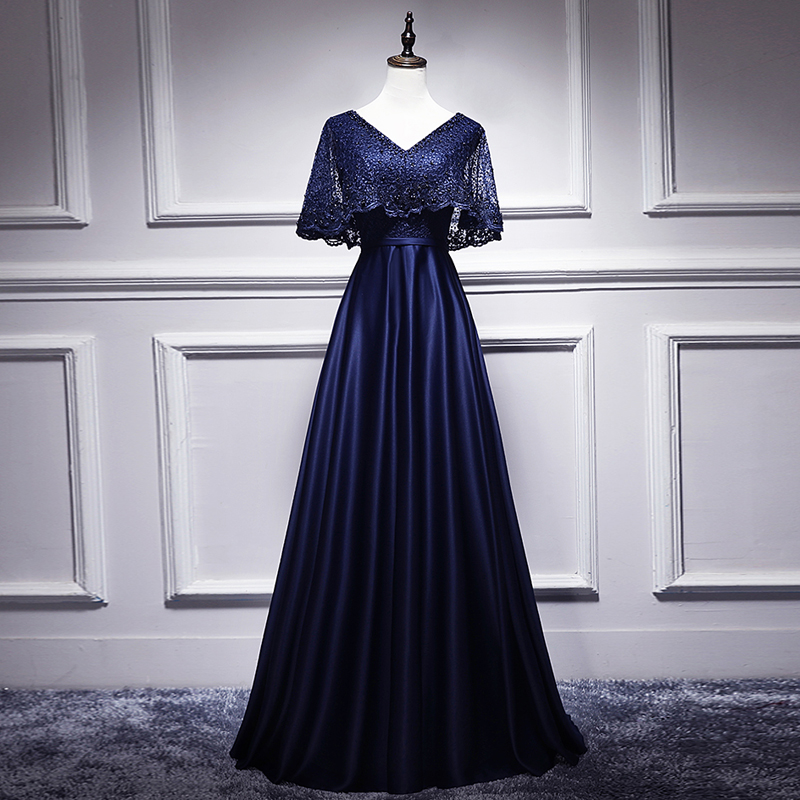 New Arrival   Evening   Gown Big V neck Beads Lace Long   Evening     Dress   Party Elegant Vestido De Festa With Jacket Prom Gowns