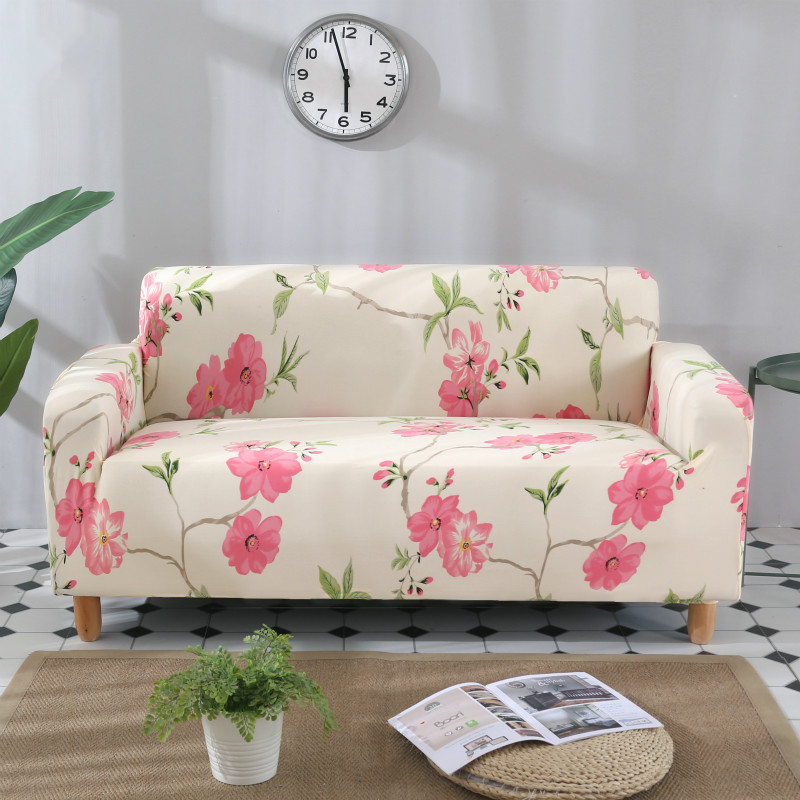 Excellent Us 13 39 45 Off Idyllic Plant Print 1 2 3 4 Seater Sofa Cover Chair Couch Protect Loveseat Slipcover Stretch Elastic For Living Room Sofa Cover In Machost Co Dining Chair Design Ideas Machostcouk