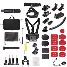 action camera accessories for Go Pro HERO6 5 4 3 & for SJ4000/SJ5000//SJ6000 LEGEND/SJCAM M20 4K/M10 WiFi/Xiao mi Yi 4K водонепроницаемый чехол для mi action camera 4k