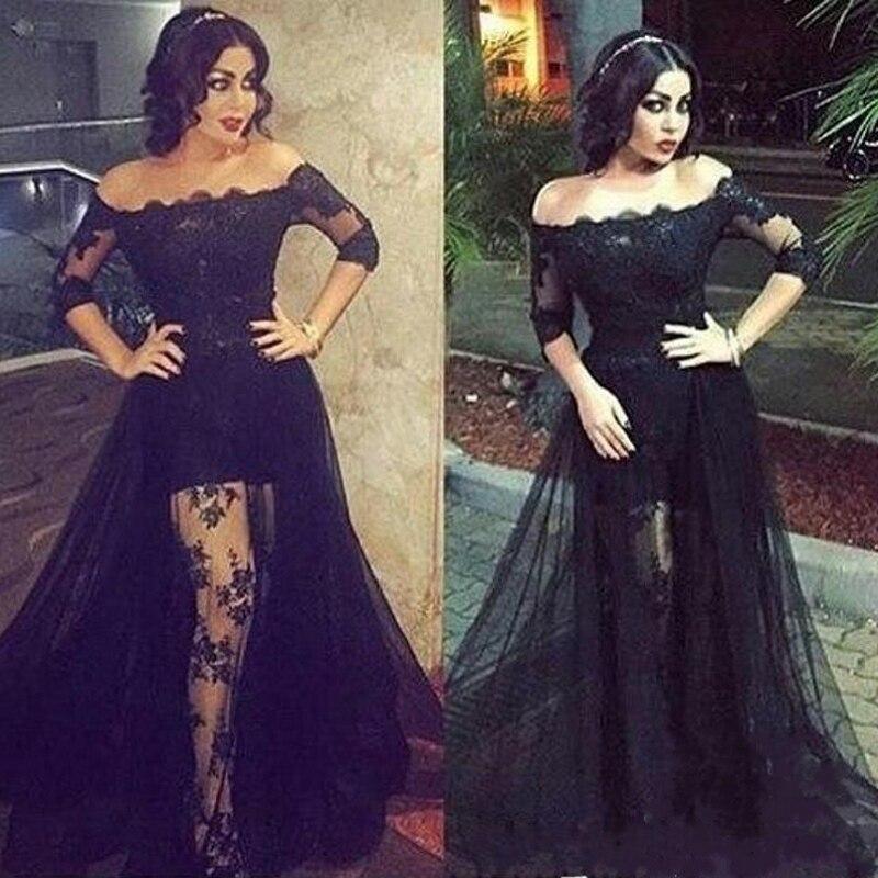 Aline black lace dress