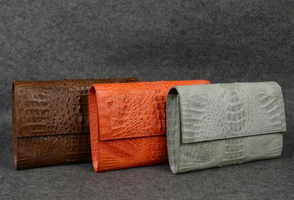 Accept private label Custom logo wholesale drop shipping Genuine real crocodile leather Women bag women messenger bags vintage