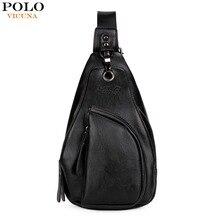 VICUNA POLO Unique Anti-theft Buckle Open Mens Chest Bag Multifunctional Black Men Crossbody Bag Lightweight Man Shoulder Bags
