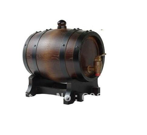 free shipping 1.5L wooden Oak Wine Aging wood Barrel Rum Cask Beer ...