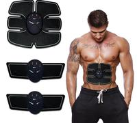 EMS Wireless Electric Massager Electrotherapy Back Pain Relief ABS Fit Muscle Stimulator Abdominal Muscles Trainer