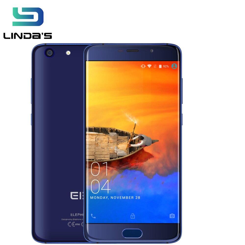 """Цена за Оригинал 5.5 """"3 ГБ + 32 ГБ/4 ГБ + 64 ГБ Elephone S7 Сотовый телефон MT6797 Helio X20 дека Core Touch ID ndriod 6.0 13.0MP 4 Г OTG Мобильный Телефон"""