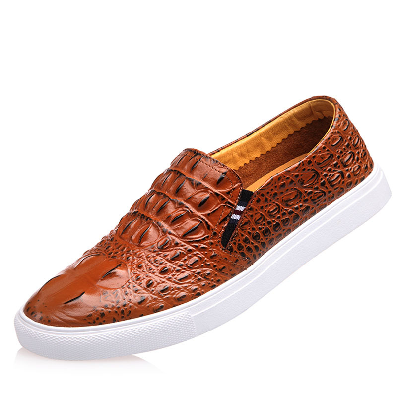 casual business office comfort genuine leather shoes