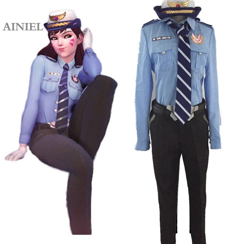 Cosplay D.VA DVA Hana Cosplay Costume Song Police Officer Carnival Uniform For Women Cosplay Garment