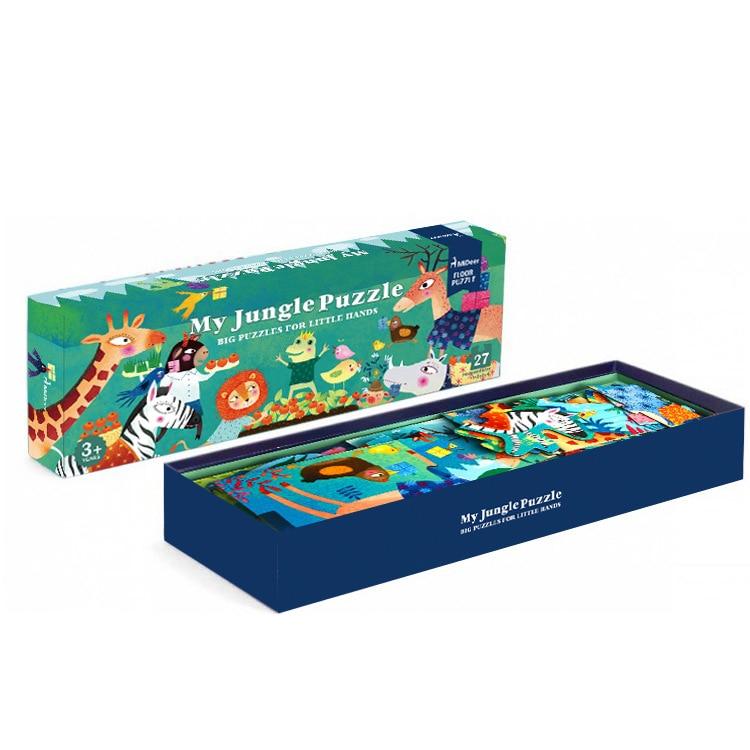 Mideer 27 pcs/ensemble Grand Puzzle En Bois Ma Jungle Puzzle Esthétique Puzzle Jeux pour Enfants Cadeau D'anniversaire