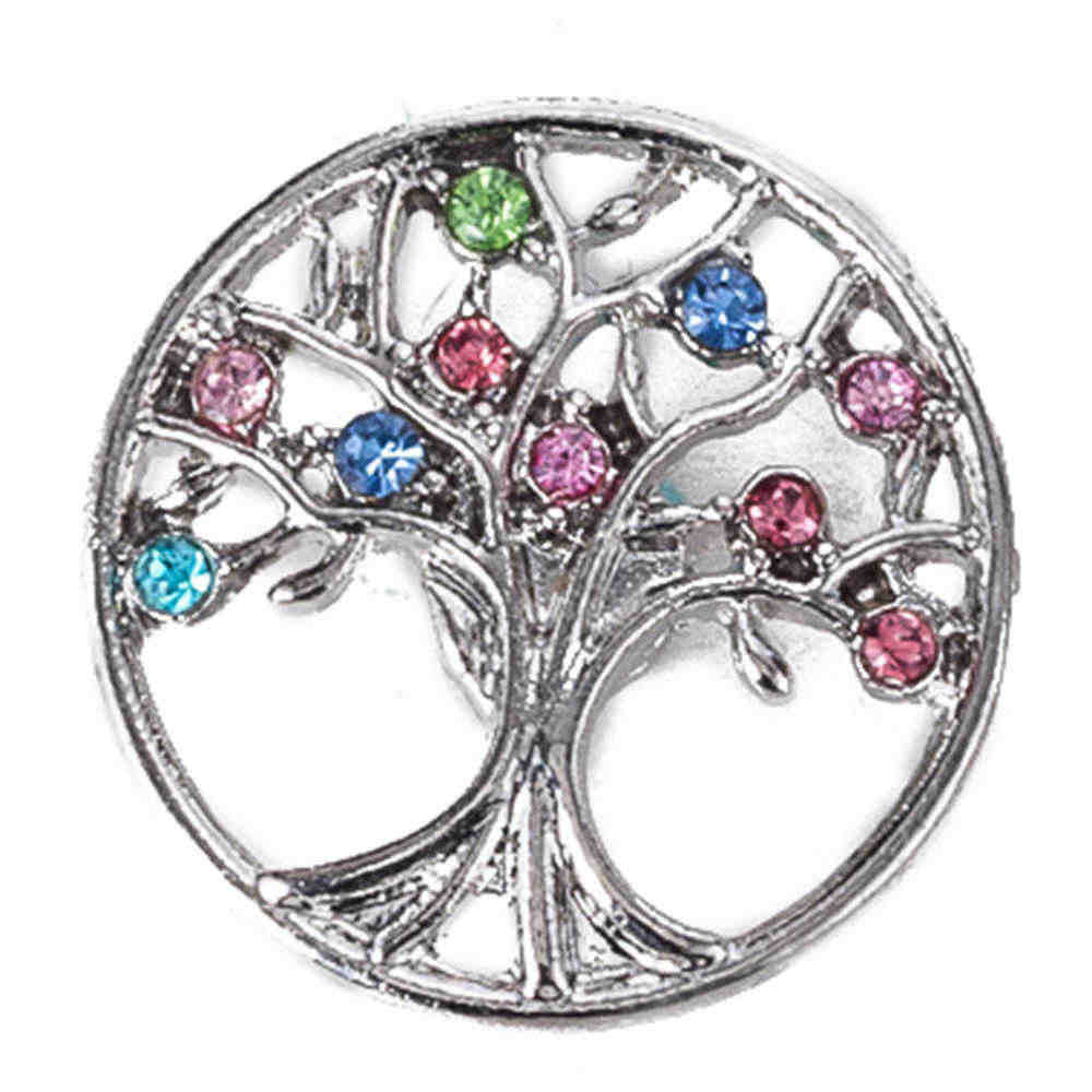 Broche de broche de metal de 18 mm para broches pulseras de broche de jengibre broches de joyería de árbol familiar TZ9102