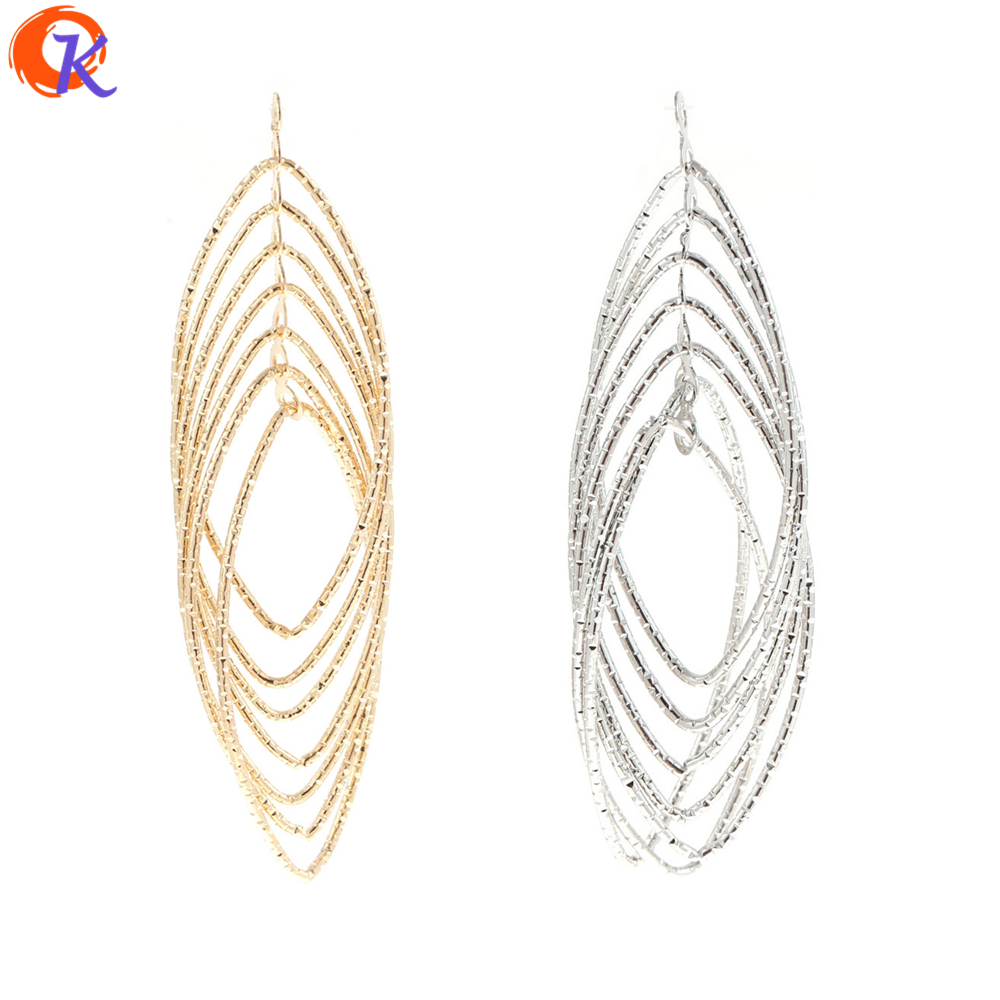 Cordial Design 20Pcs/Lot 21*75MM Jewelry Accessories/Earring Findings/Gold Silver Oval Shape/Hand Made/Earrings Jewelry Making