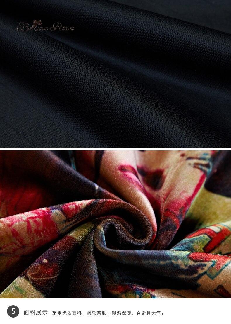 BelineRosa Women s Plus Size Dresses Winter Style European Printing  Turtleneck Neck Batwing Sleeve Mini Dress Female TYW00673-in Dresses from  Women s ... c08b160b18c4