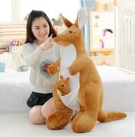 Australia Soft Stuffed Plush Animals Kangaroo 100cm Super Large Kangaroo Parents Family Toy for Birthday Gift