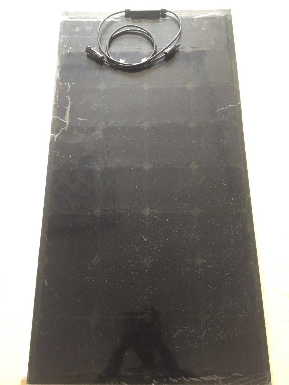 Panneau solaire 100 w Semi Flexible pour batteries solaires 12 v DC, utilisé dans la voiture, puissance d'éclairage de bateau de camping - 3