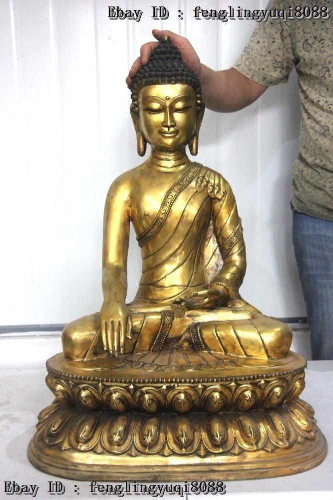 Thaïlande bouddhisme siège en bronze lotus Shakyamuni bouddha Sakyamuni tathagata Statue