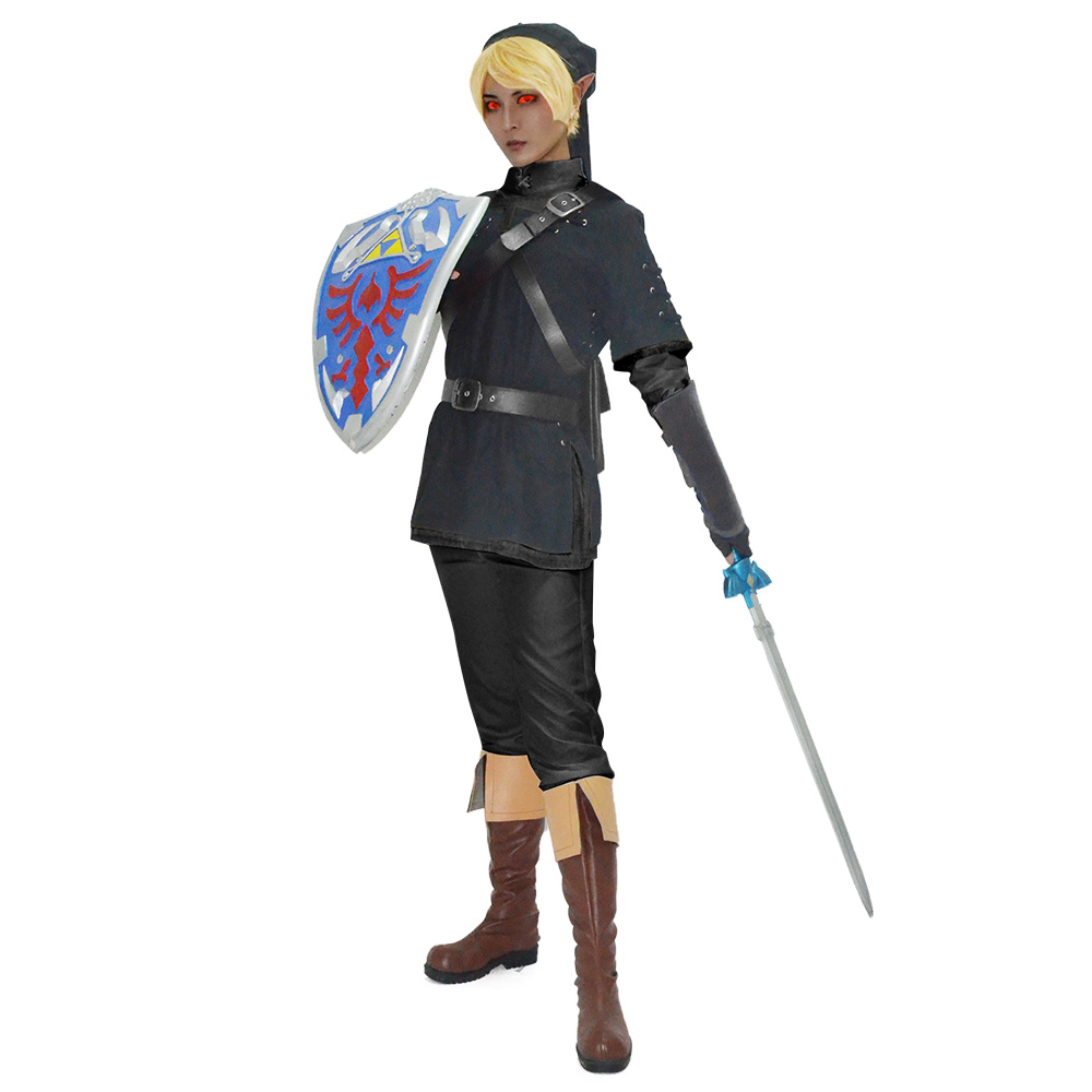 Anime New The Legend of Zelda Dark Link Cosplay Costume Halloween Party Mężczyźni Unisex Odzież