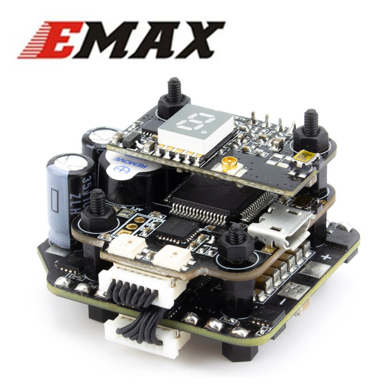 EMAX Mini Magnum 2 Stack - F4 BLHELI32 35amp 3-6s VTX ESC Flight Controller All In One For Quad Drone 40%Off emax f4 magnum all in one fpv stack tower system f4 osd 4 in 1 blheli s 30a esc vtx frsky xm rx for rc models multicopter