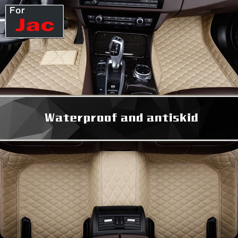 Custom made car floor mats for Jac T6 M4 S3 Iev6e S7 S2mini Iev M6 Iev7s Iev7 S5 A60 Iev6s S2 full cover rugs