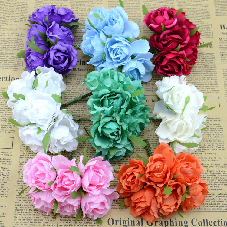 Artificial flowers fake flowers simulation flowers roses silk artificial flowers fake flowers simulation flowers roses silk hydrangea flower ring diy materials wholesale shooting background in artificial dried mightylinksfo