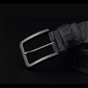 Image 5 - GFOHUO 高級ワニ粒男性ベルトピンバックル革ベルトヴィンテージ男性用 Cinto マッチョ