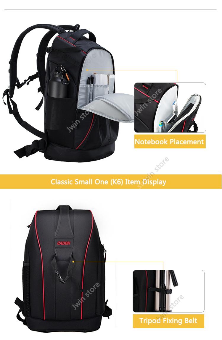 CADeN Professional Travel Waterproof Fashion Camera Backpack Photo tas Digital Camera Bag Case for Dslr Sony Canon Nikon K6K7 7