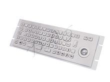 Industrial kiosk keypads custom kiosk keyboards vandal proof keypads Metal Keyboard with Trackball