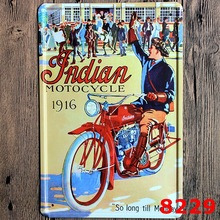 30X20CM Indian Motor Vintage Home Decor Tin Sign for Wall Decor Metal Sign Vintage  Art Poster Retro PlaquePlate