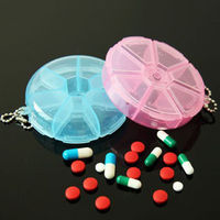 1PCS Mini Portable 7 Day Daily Pill Organizer Box Secure Case Large Compartment Travel Accessories Travel Accessories