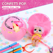 confetti pop 10cm big lol dolls in balls 3 series boneca baby toys for girls action figure water spray color changing Dress Up(China)