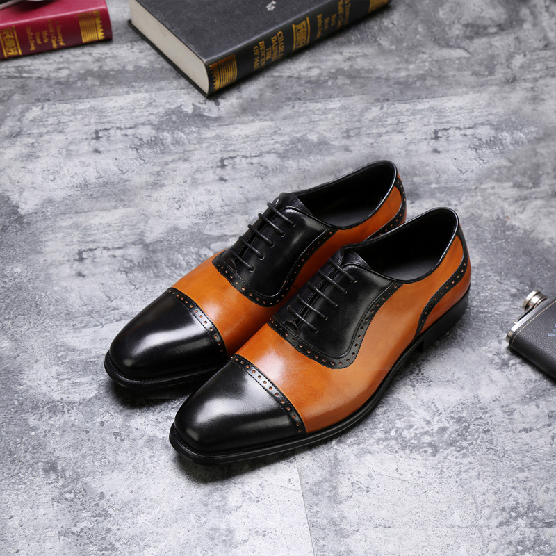 CH.KWOK Mixed Color Men Genuine Leather Single Oxfords Shoes Spring Autumn Lace Up Italian  Dress Oxfords Business Wedding Shoes 2017 men shoes fashion genuine leather oxfords shoes men s flats lace up men dress shoes spring autumn hombre wedding sapatos