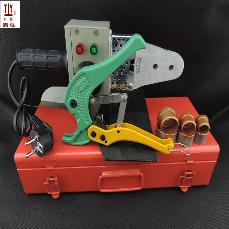 New 20-32mm Temperature Controled 600W Iron Box With Scissor PPR Welding Machine ppr-plastic pipe welder free shipping with 42mm pipe cutter 20 32mm plastic tube pipe welder 220v 600w hot melt machine ppr pipe welding machine