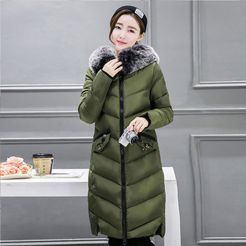 Women Thick Winter Long Section Padded Hooded outerwear New fashion fur collar Slim padded cotton warm coat Jacket women thick winter large size long section padded hooded outerwear new fashion fur collar slim padded cotton warm coat jacket