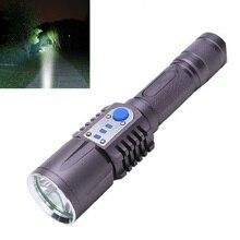 цена на 3800LM XM-L2 T6 LED Flashlight Torch Brightness LED USB Charge 5 Modes Mobile Power Bank Intelligent Flashlight for Camping
