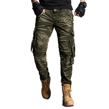 2019 camouflage Cargo Pants Mens Cotton Military Multi-pockets Baggy Men Pants Casual Trousers Overalls Army Pants Joggers 40 mens multi pockets thick polar fleece drawstring cargo pants