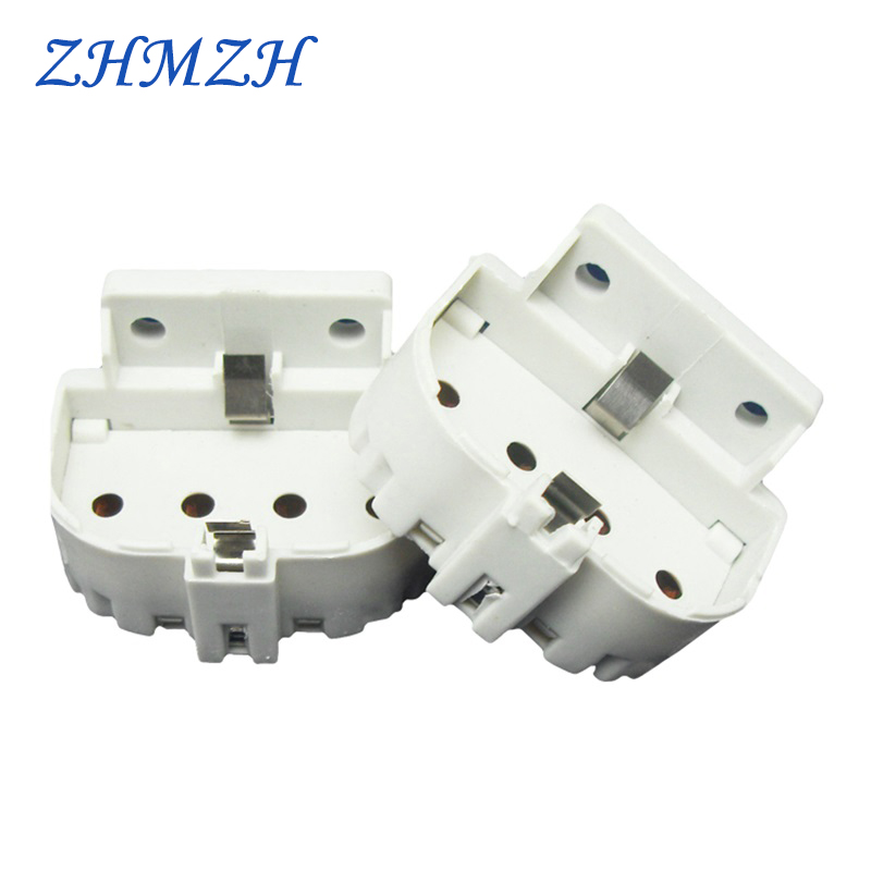 2G11 Lamp Holders H Tube Dedicated Lamp Holder U-tube Flat Four-pin Lamp Bases For Connecting The Ballast Free Shipping