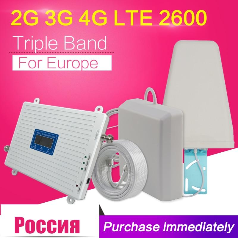 2g 3g 4g GSM 900 WCDMA FDD LTE 2600 Cellulaire Téléphone Signal Booster GSM 3g 4g LTE 2600 Répéteur 900 2100 2600 Téléphone Cellulaire 2600 Booster