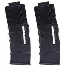 2pcs Worker f10555 15 Bullets Universal Soft Bullet Clip Injection Mold Magazine Clip for Nerf Black Color
