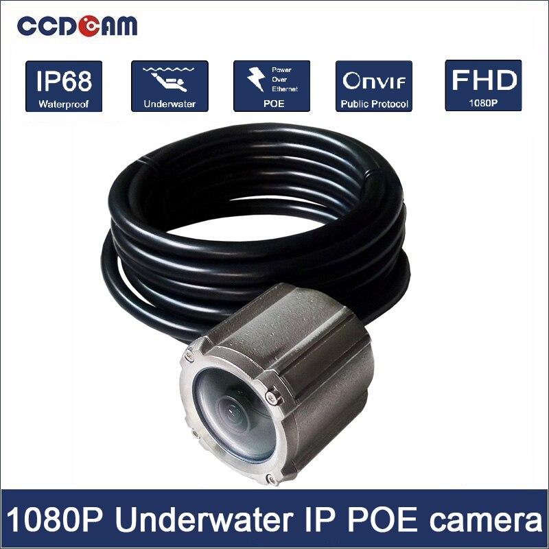 Caméra sous-marine de mer 1080 P IP réseau POE caméra pour piscine et marine surveillance fil Max 100 M