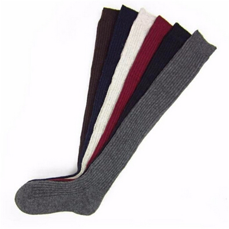 1 pair Solid Colors Knitted Sexy Stocking Women Warm Thigh High Over the Knee Socks Fashion Ladies Stockings one size in Tights Stockings from Mother Kids
