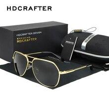 2017 HDCRAFTER Fashionable Metal Sunglasses Polarized Men Reflective Sun Glasses Square Eyewear Gafas De Sol