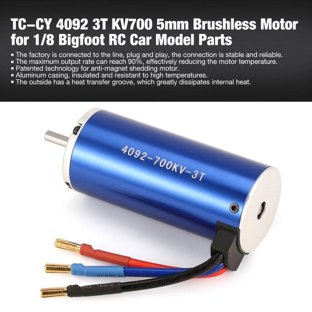 TC-CY 4092 3 T KV700 5mm sans capteur moteur Brushless pour 1/8 Bigfoot RC voiture modèle pièces de rechange accessoires composant