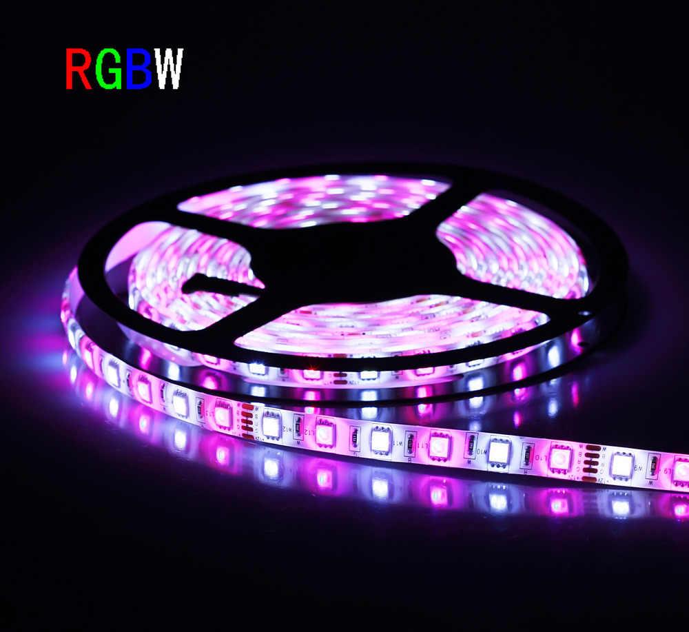 100 м/лот Светодиодная лента RGBW/RGBWW Светодиодные ленты света Водонепроницаемый DC12V SMD5050 5 м/рулон IP65 60 Светодиодный s/M RGB + белый/теплый белый светодиодный ленточный светильник