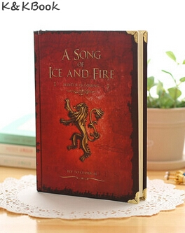 JINGU Game of Thrones Notebooks Vintage Hardcover Notebook for Gift Movie A Song of Ice and Fire A5 Size Day Planner game of thrones hear me roar lannister theme 3d bronze quartz pocket watch a song of ice and fire related product gift page 6