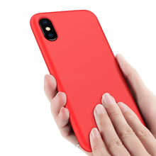 Phone Cases For iPhone 7 8 6 6s Plus 5S SE Liquid Silicone Original Soft TPU Fundas Cover For iPhone XS Max XR X Case Shockproof цена и фото