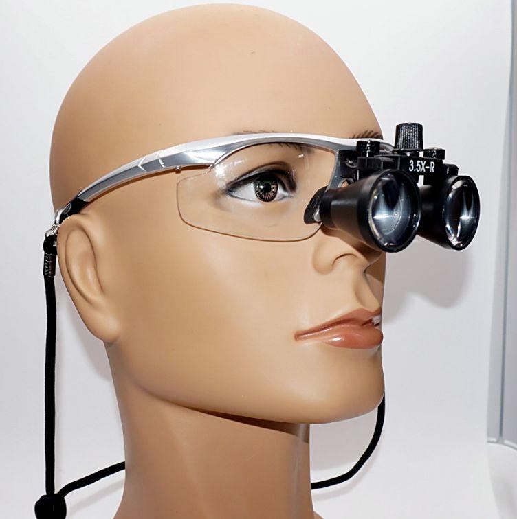 Amplio campo 3.5x dental lupa ojo Gafas cirugía ortopédica lupa